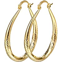 Sumanee Women Elegant 18k Yellow Gold Filled stud Hoop Dangle Earring Wedding Jewelry