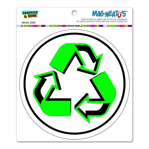 Recycle Symbol - Circle MAG-NEATO'S™ Automotive Car Refrigerator Locker Vinyl Magnet