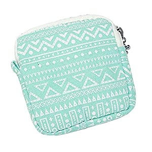 bjduck99 Cute Pattern Printed Mini Storage Bag for Women Sanitary Napkins Pad Holder