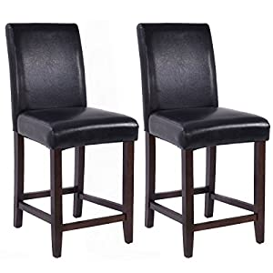 Amazon Com Costway Set Of 2 Kitchen Bar Stools Padded