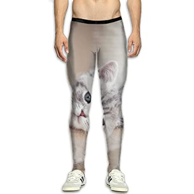 Adult's Compression Pants Sports Leggings Tights Baselayer Funny Husky Cartoon Dog Yoga Gym Running Workout Hiking Basketball Fitness - For Men Womens