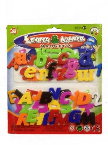 Magneti magnetici con lettere dell'alfabeto, lettere maiuscole e lettere minuscole, 52 pezzi