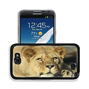 Animals Lions Upscaled Full Satisfied Samsung Galaxy Note 2 Snap Cover Premium Aluminium Design Back Plate Case Customized Made to Order Support Ready 6 inch (152mm) x 3 2/8 inch (82mm) x 4/8 inch (13mm) MSD Galaxy Note 2 Professional Metal Cases Touch Ac