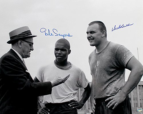 Dick Butkus & Gale Sayers Signed Autographed Chicago Bears 16x20 Photo Featuring George Halas TRISTAR COA
