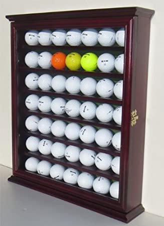 Amazon.com : 49 Golf Ball Display Case Cabinet Holder Rack w/ UV ...