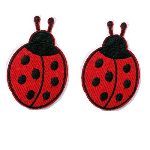 My Little Pony Horse Embroidered Iron/sew on Patch Cloth Applique Set of 2(ladybug) Ladybug Embroidered Iron