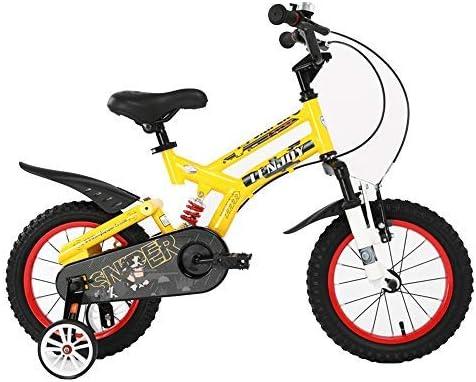 YSA キッズバイク子供の自転車、2-8歳の男の子と女の子のバイク、取り外し可能なトレーニングホイール付き12/14/16/18インチロードバイク