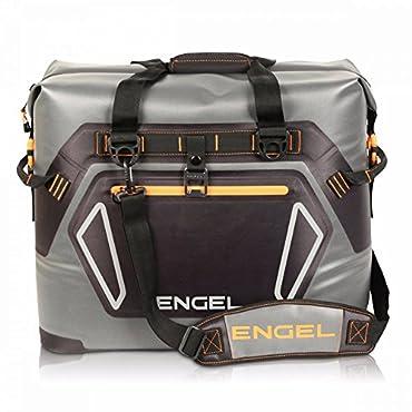 Engel 30-Liter Waterproof Soft-Sided Cooler, Gray and Orange (ENGTPU-ORANGE)