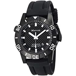 Montrek Men's M12.1212.R121 Round Diver PVD Automatic Watch