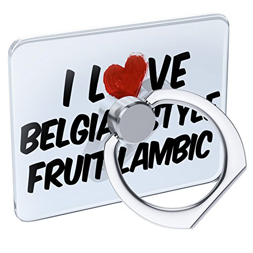 Cell Phone Ring Holder I Love Belgian Style Fruit Lambic Beer Collapsible Grip & Stand Neonblond
