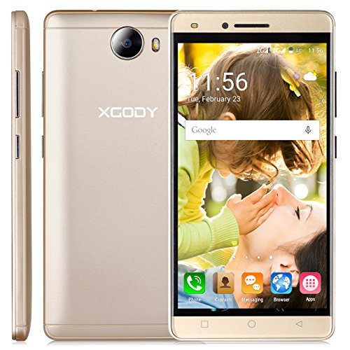 Xgody X11 5 Inch Cell Phone Unlocked Android 5.1 Quad Core