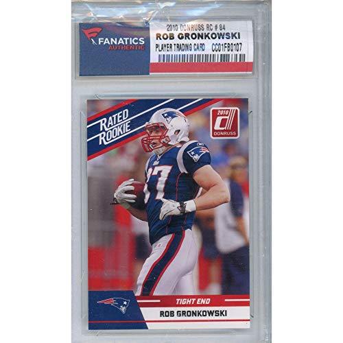 Sports Memorabilia Rob Gronkowski New England Patriots 2010 Donruss #84 Rookie Card - Unsigned Football Cards from Sports Memorabilia