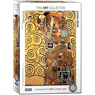 EuroGraphics The Fulfillment by Gustav Klimt 1000 Piece Puzzle: Toys & Games