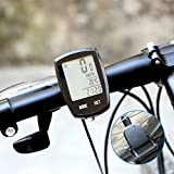 Thorfire Bike Computer, Wireless Automatic Cycle Speedometer Waterproof Bicycle Computer with LCD Backlight Cycling Odometer, Multi-Function