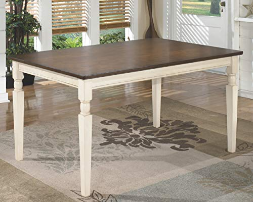home & kitchen, furniture, kitchen & dining room furniture,  tables  picture, Ashley Furniture Signature Design » Whitesburg Dining Room Table » Rectangular » Vintage Casual » Brown/Cottage White in US5