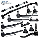 DLZ 14 Pcs Front Suspension Kit-2 Upper 2 Lower Ball Joint 2 Inner 2 Outer Tie Rod End 2 Adjusting Sleeve 2 Sway Bar 1 Idler Arm 1 Center Link Compatible with Chevrolet Caprice, Chevrolet Impala
