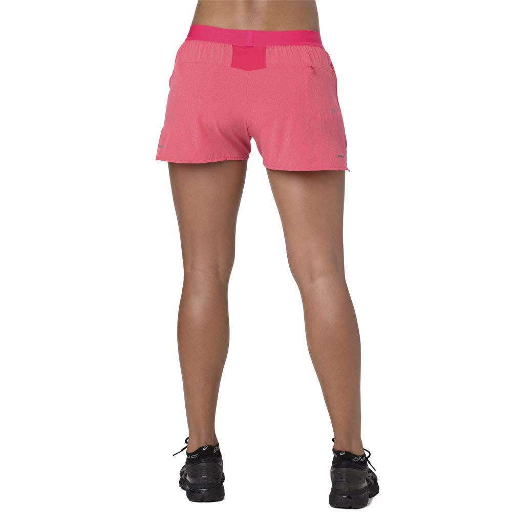 ASICS Women 3,5In Short Vestiti Da Corsa Shorts Pink Black