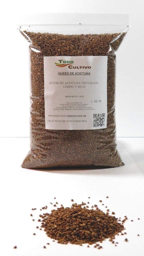 Hueso de aceituna exfoliante. 5 Kilos. Biocombustible y filtrante.