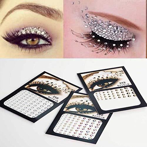 Zoestar Crystal Eye Jewels Breast Gems Festival Rave Stickers for Women