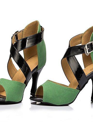 Chaussures Danse Talon Swing Shangyi Samba Green Personnalisables De Jazz Latine Vert Personnalisé Salsa Flocage dX7XxEq1