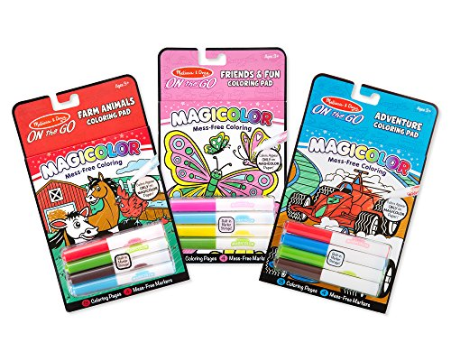 Melissa & Doug On the Go Magicolor Coloring Books Set - Farm Animals, Friends and Fun, Adventure ()