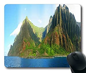 "Na Pali Coast Custom Rectangle Mouse Pad Oblong Gaming Mousepad in 220mm*180mm*3mm (9""*7"") -1105081 by runtopwell"