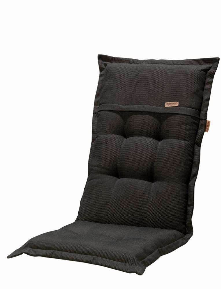 Madison Kissen für Klappstühle (100% Polyester, 123x 50x 8cm 2 unidades schwarz