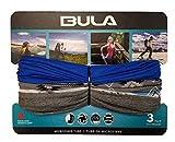 BULA - Unisex Soft Microfiber Multi-Functional Tube (3 Pack) (Blue/Grey)