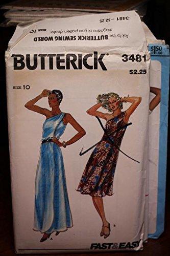 Butterick Dress Pattern Uncut Vintage - Vintage Butterick Pattern 3481 Sz 10 Misses' Dress Uncut