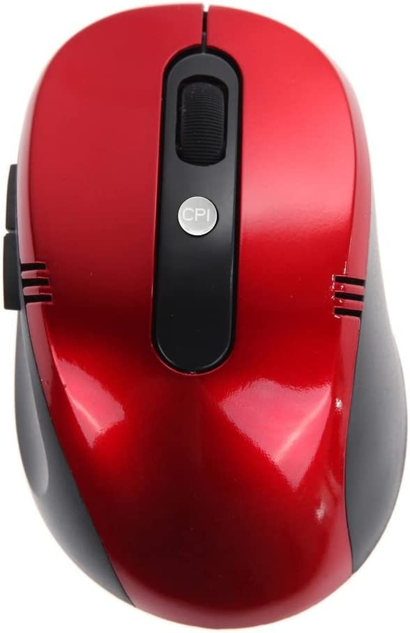 Red Vanpower Optical Wireless Mouse USB Receiver RF 2.4G for Desktop Laptop PC