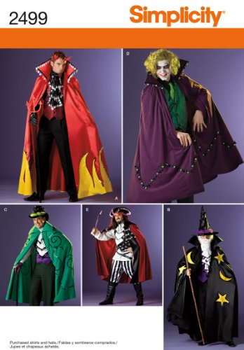 Simplicity Sewing Pattern 2499 Men's Costumes, BB (L-XL)
