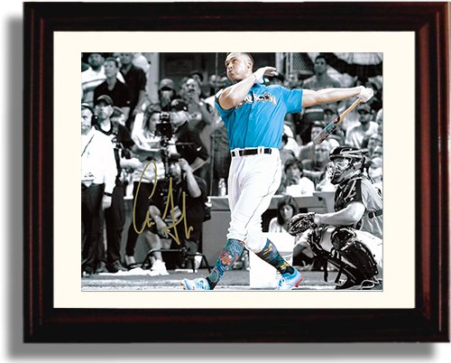 Framed Aaron Judge Home Run Derby Champ Autograph Replica Print Framed Sport Prints