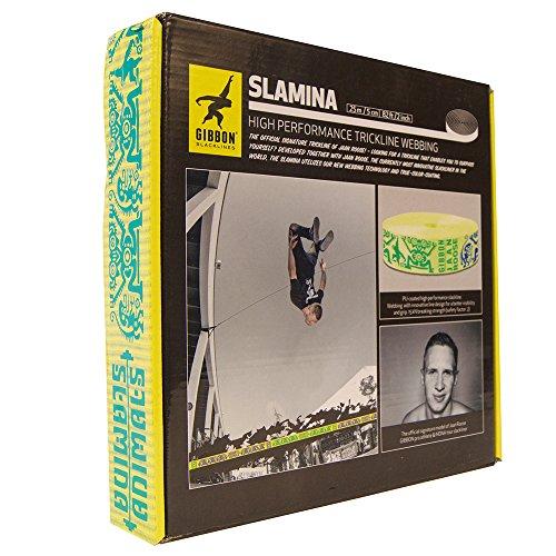 GIBBON Slacklines Trickline Webbing Slamina, Yellow