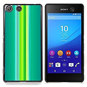 Stuss Case / Funda Carcasa protectora - Verdes vibrantes del trullo Líneas de primavera - Sony Xperia M5