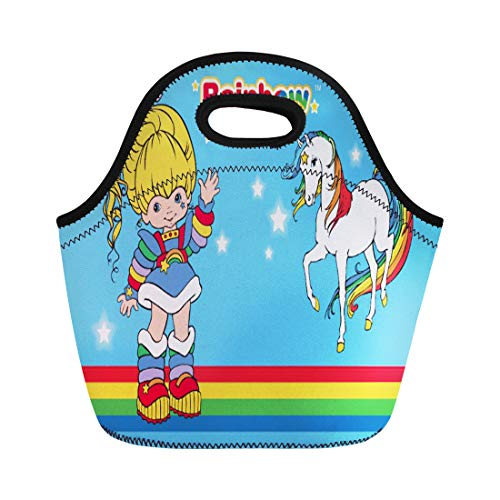 80s Boxes Lunch (Ablitt Lunch Bags Colorful Love Classic Rainbow Brite Starlight Horse 80S Cartoon neoprene lunch bag lunchbox tote bag portable picnic bag cooler bag)