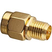RF design SMA Male Plug to RP-SMA Female 2 Pieces RF coaxial coax adapter Coupling Nut Connector Golden