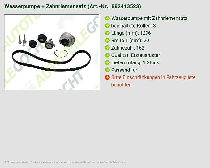 Para Opel Astra G G CC H H GTC H Bomba de agua M. - Correa de distribución: Amazon.es: Coche y moto