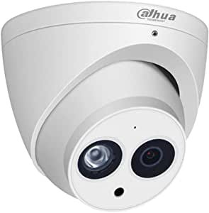 Dahua 6MP HD Security POE IP Camera, IPC-HDW4631C-A 2.8mm, All-Metal Eyeball Dome Camera with Built-in MIC, 165ft Smart IR Night Vision, H.265, WDR ,DNR, IP67,ONVIF