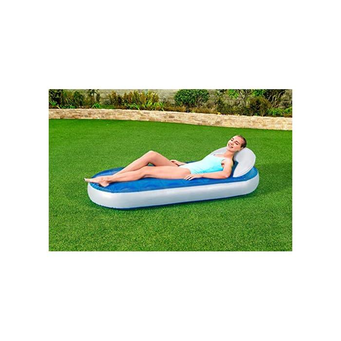 51ZTGbXPcqL Relájate en el jardín con esta colchoneta hinchable LLena de agua la cámara superior para conseguir la relajación que necesitas Se infla y desinfla de forma sencilla y rápida