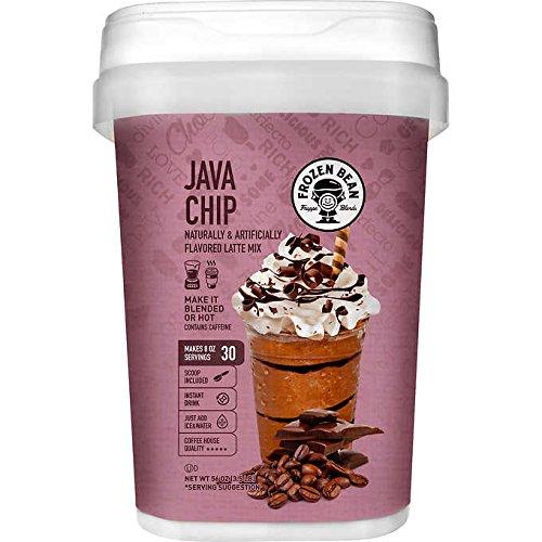 Frozen Bean Coffee Powder Mix Drink Extra Large 56 oz (3.5 lb) (Java Chip)