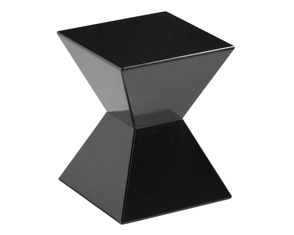 amazoncom sunpan modern rocco end table black kitchen  dining -