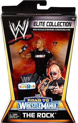 Mattel WWE Wrestling Exclusive Elite Collection Road to WrestleMania Action Figure The Rock by Mattel Toys