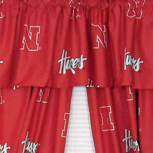 NCAA Nebraska Huskers Collegiate Long Drape Valance Set - Nebraska Huskers Drapes