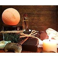 Craftiela Midnight Bliss Natural Vegan Organic Gift Set For Her Bergamot Bath Bomb, Madagascan Vanilla Black Handmade Soap, Frankinscense Epsom Bath Crystals Healthy Spa Woman Gift
