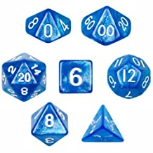Wiz Dice GDIC-1115 7 Die Polyhedral Sparkle Horizon Dice Set with Velvet Pouch