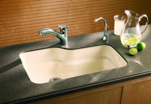 Franke ORK110BT Orca Granite Undermount Single Bowl Kitchen Sink, Biscuit