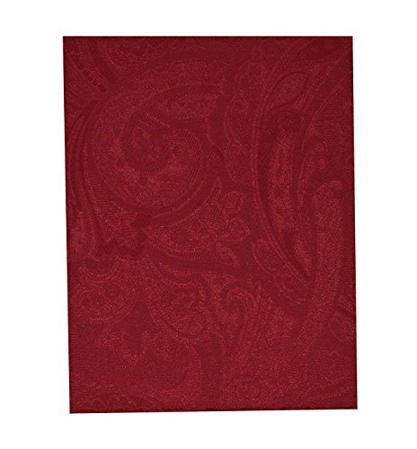 "Ralph Lauren Paisley Suite Red Tablecloth - 60"" X 84"""
