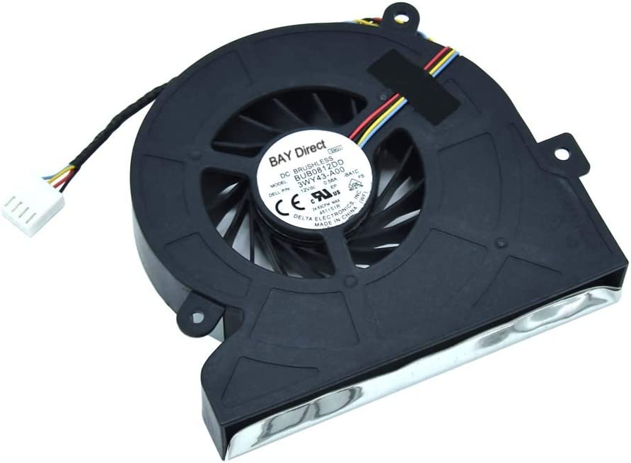 BAY Direct Replacement CPU Fan for Dell Optiplex 9010 9020 9030 All in One Desktop, Inspiron One 23 (2320/2230 / 2330) Compatible P/N: 03WY43 3WY43 EFB0201S1-C010-S99 BUB0812DD-BA1C BASB1120R2U