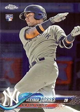 2018 Topps Chrome Baseball 31 Gleyber Torres Rookie Card