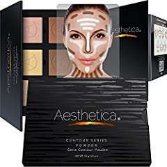 The six pressed powders in the Aesthetica Cosmetics Contouring Kit are used to enhance your natural beauty. Darker contour shades define features while lighter highlighting shades enhance the eyes, cheekbones, nose, and jawline. An included s...